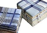 USM Mens Classic Woven Cotton Striped Handkerchiefs Hankies Pack