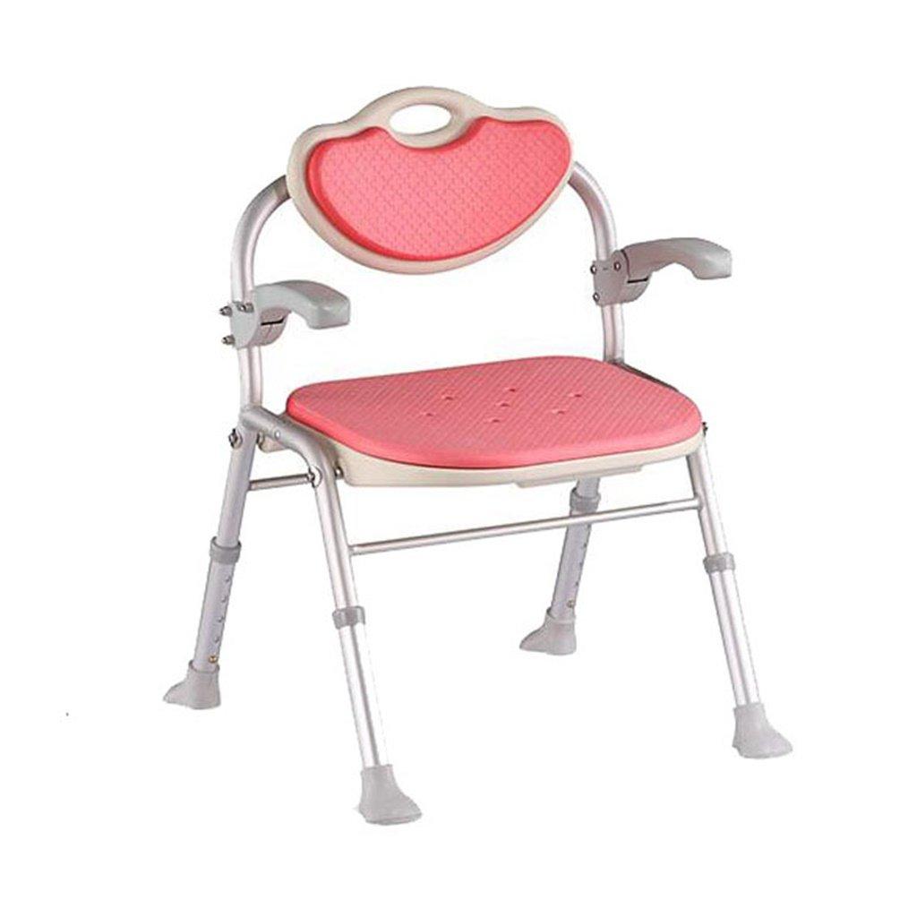 優先配送 安全快適背もたれ折りたたみ式バスチェア高齢者/身体障害者/妊娠可能な調節可能な高さアルミ合金バススツール滑り止めチェアMax 80kg(ピンク)。 B07FNHM3H3 80kg(ピンク) B07FNHM3H3, Coffret de SHALON:0d8aa4fc --- zsakgyar.hu