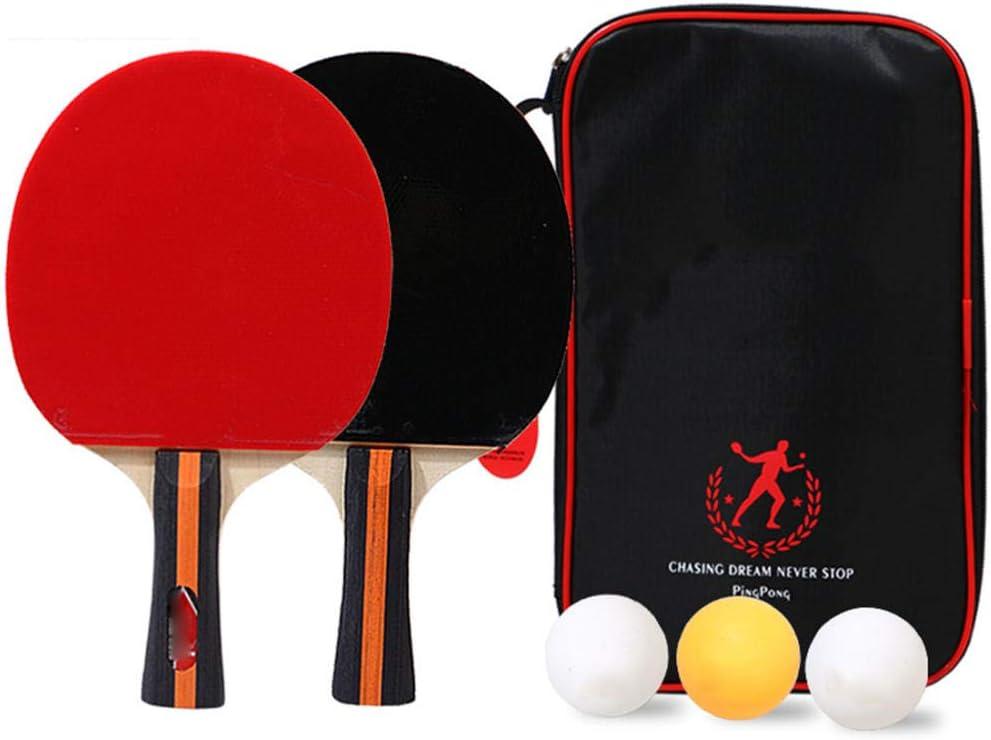 Juego De 2 Paletas De Ping Pong Ultimate Net Y Paquete De Pádel, 2 Raquetas De Tenis De Mesa Y 3 Pelotas De Regulación Y 1 Bolsa De Malla