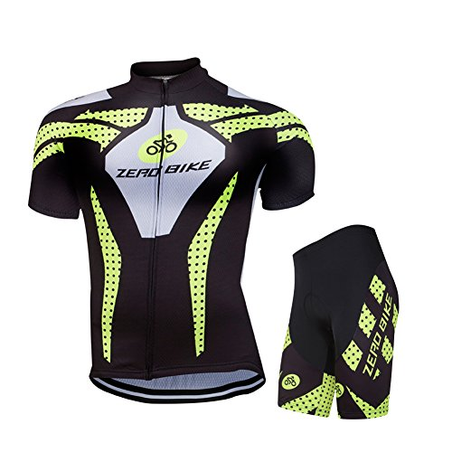zerobike-mens-short-sleeve-breathable-cycling-jersey-3d-padded-shorts-sportswear-suit-set-breathable