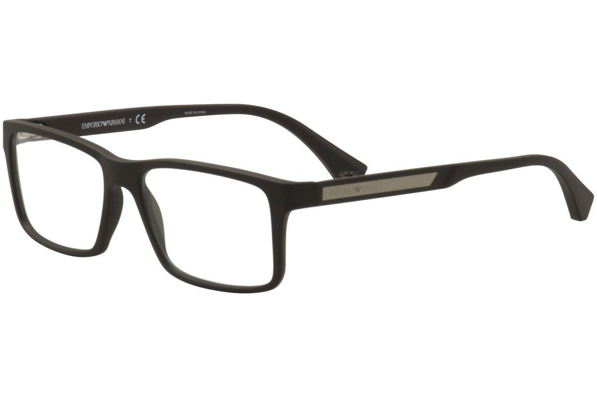Emporio Armani EA 3038 Men's Eyeglasses Brown Rubber 54