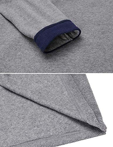 Albornoz Vestido De Gasa Para Vintage Mujer Camisa grau Robe 4 Largo Suave Dormir Bata Noche Calentamiento Huixin gOxwIdqq