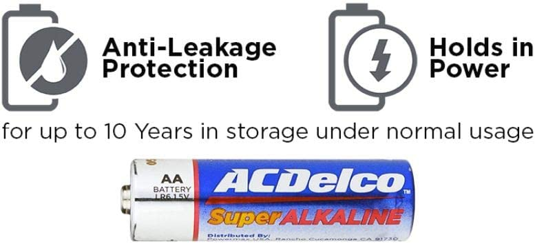 ACDelco 40-Count AA Batteries, Maximum Power Super Alkaline Battery: Electronics