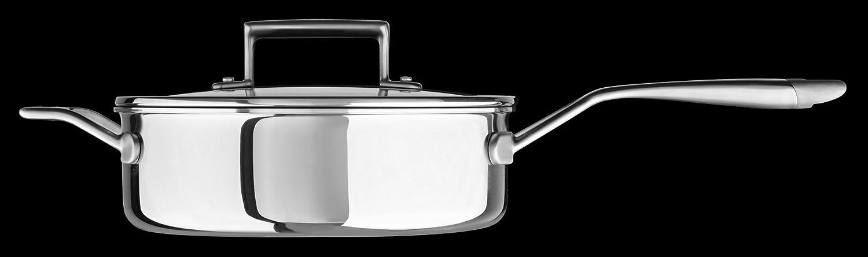 Amazon.com: KitchenAid kc2t35ehst Tri-Ply 3.5 Quart cazuela ...