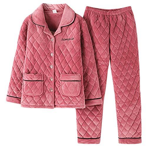 Hogar Para Cálido Mmllse El Photo Pijama Terciopelo Servicio De Invierno Color Rombal Acolchado 8wHUqY