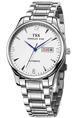 TSS Men's Automatic Sapphire Watch Stainless Steel Band T8019C4