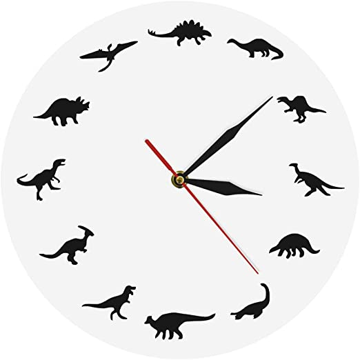 Amazon Com The Geeky Days Dinosaurs Silhouette Wall Clock Creative Animal Nursery Wall Art Decor Kid Room Personalised Dinosaur Clock Modern Silent Quartz Iconic Acrylic Clock Dinosaur Lover Gift Home Kitchen This easy acrylic painting tutorial is great for the absolute beginner and kids! acrylic clock dinosaur lover gift