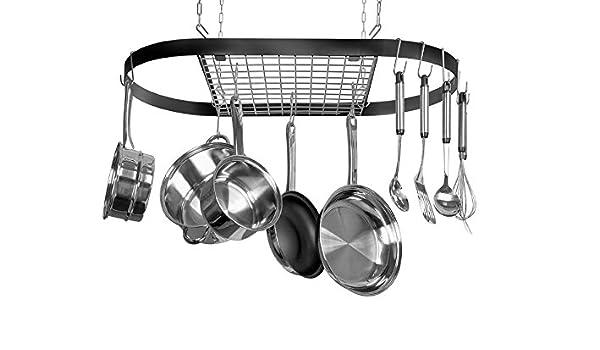 Kinetic GoGreen Classicor Wrought Iron Oval Pot Rack: Amazon ...