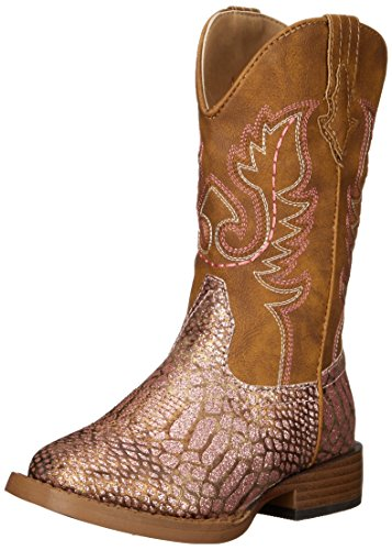ROPER Girls' Glitz Western Boot, Pink, 12 M US Little Kid -