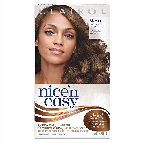 Clairol Nice 'n Easy Hair Color 115, 6N Natural Lighter Brown 1 Kit(Pack of (Clairol Nice N Easy Shades)