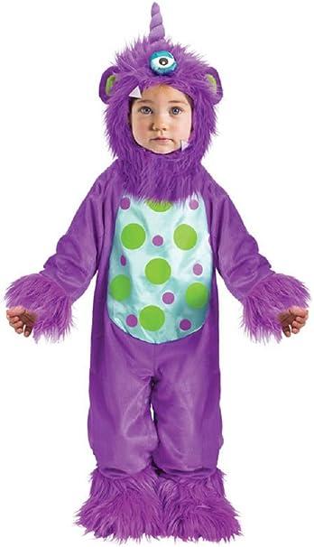 Monster Kostuem Fuer Jungen.Fancy Me Baby Kleinkind Madchen Jungen Blau Oder Lila Halloween Monster Verkleidung Kostum Kleidung 12 24 Monate Lila 6 12 Months Amazon De Spielzeug