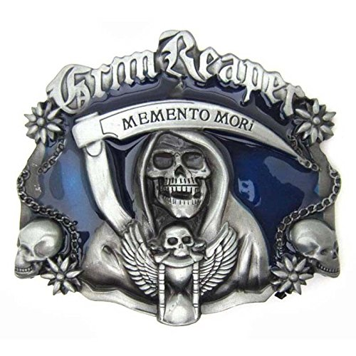 Punk Grim Reaper Skull Evil Belt Buckle Cool Gothic Biker Motorcycle