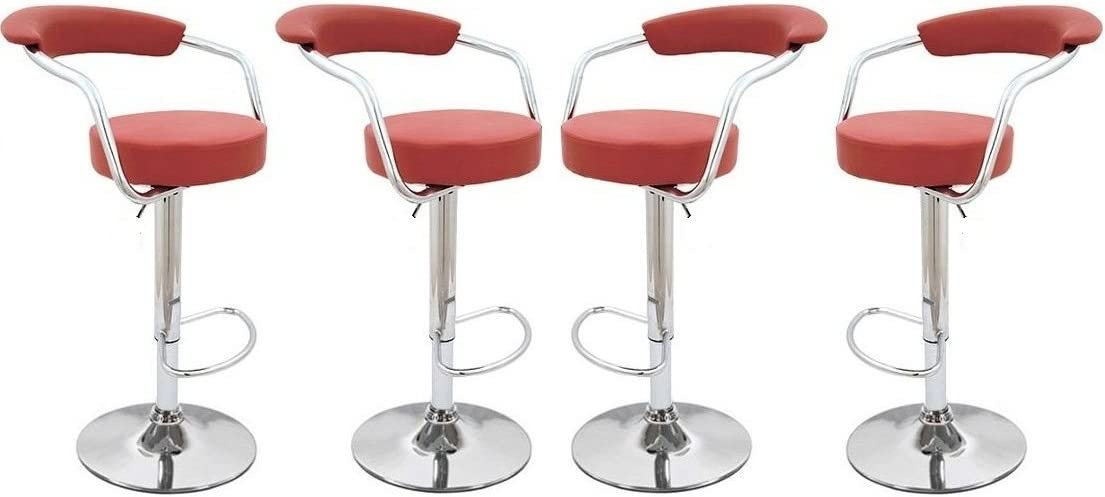Premium Outlet Red – Omicron Kitchen Padded Bar Stool Set of 4