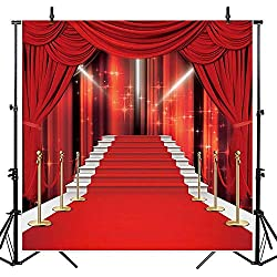Allenjoy 10x10ft Red Carpet Photography Backdrops Hollywood Avenue of Stars Background for Wedding Party Photo Studio Props Photocall