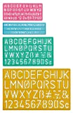 Westcott Lettercraft Plastic Lettering Guide Set, Color Varies, Case Of 144 (500-02145)