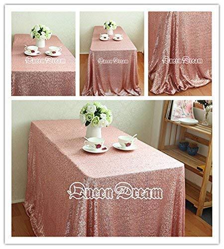 QueenDream sequin tablecloth rectangle sequins fabric sequin backdrop fabric 50