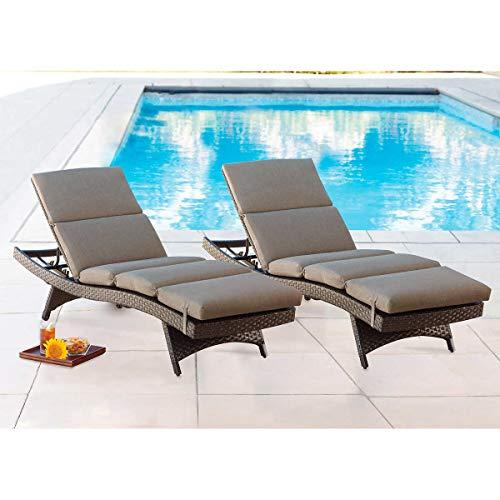 Chaise Lounge Cushion, 2-Pack (Tan)