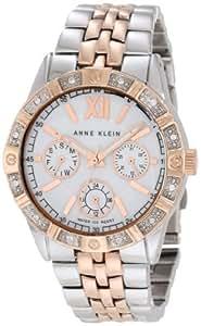 Anne Klein Women's AK/1001MPRT Swarovski Crystal Accented Rosegold-Tone And Silver-Tone Watch