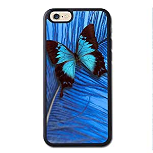 New Iphone 6 Cases, Apple Iphone 6 Cases, Cateyes Soft TPU Cover Case For Iphone 6 - Blue Butterfly Pattern