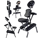 NEW Portable Light Weight Massage Chair Travel Massage Tattoo Spa Chair w/Carrying Bag (Black)