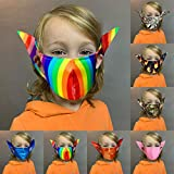 MA_SK! Cool Anti-dust Mouth Face_mask_ Children Protect Covering Bandana Unisex Reusable Washable Shi_led Elf Ears Cosplay Halloween Party Props