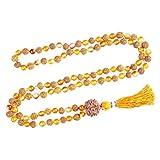 Japa Mala Beads 108+1 Rudraksha Carnelian Kundalini Jagran Malabeads