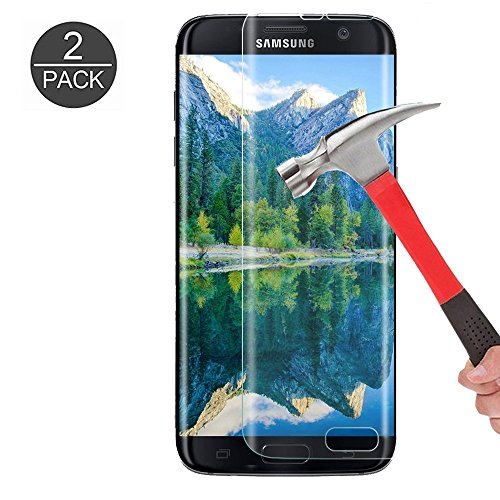 Galaxy S7 Edge Tempered Glass Screen Protector  Kmiss  Full Coverage   9H Hardness   Anti Scratches   Anti Fingerprint   Bubble Free Premium Hd Screen Protector For Samsung Galaxy S7 Edge  2 Pack