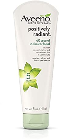 Aveeno Positively Radiant 60 Second In-Shower Cleanser 5 oz 3 Pack