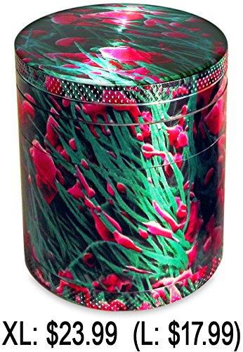 WEED UNDER MICROSCOPE EXTERIOR XL Herb Grinder. Weed Grinder. Tobacco Grinder. Pollen Catcher. Premium 4 piece 2.5x2.75