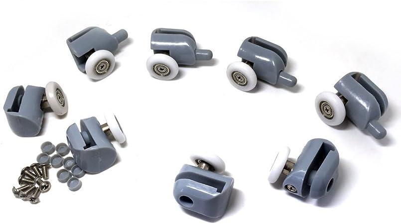 Single Shower Door Roller x 4 for  Shower Enclosures Cabins Enclosure 25//27mm