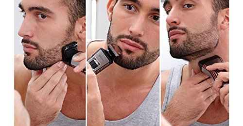 Philips Norelco WASHABLE Full Body Groomer with Exclusive ALL NEW Turbo Boost Feature & 8 Attachments Full-Size Metal Guard Trimmer, Bodygroom Foil Shaver, and Body Trimmer Comb, Precision Trimmer, with Hair Clipping Comb, Mini Foil Shaver, and Beard and  by Philips Norelco (Image #8)