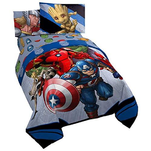 "Avengers "" Endgame"" Twin 5 Piece Bedding Set (Reversible Comforter ● Sham ● Sheets ● Pillowcase)"