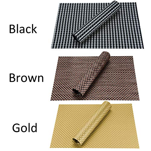 Top Finel Table Mats Sets Crossweave PVC Washable Stain Resistant Durable Dining Table Outdoor,Brown,Set of 8 by Top Finel (Image #7)'