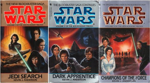 Star Wars Jedi Academy Trilogy - Jedi Search / Champions of the Force / Dark Apprentice - All 3 Books (Star Wars Jedi Academy, Volumes 1, 2 & 3)