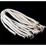 Potelin Premium Quality 10Pcs 1.34Feet Long Dia. 1/4'' Round Cotton Kerosene Oil Lamp Wicks Burner