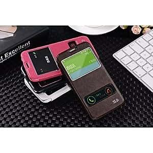 GX Teléfono Móvil Samsung - Carcasas de Cuerpo Completo/Activación al abrir/Reposo al cerrar - Color Sólido/Diseño Especial - para SamsungS5 , Rose