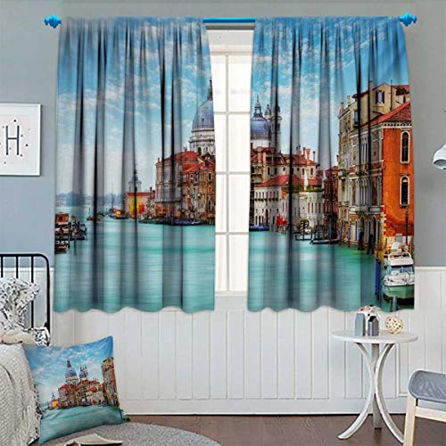 ndow Curtain Fabric Grand Canal and Basilica Santa Maria Della Salute Historical Architecture Drapes for Living Room 63