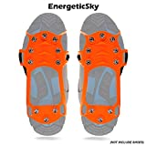 EnergeticSky Walk Traction Ice Cleat Spikes Crampons and Tread for Snow,Ice,Attaches Over Shoes/Boots