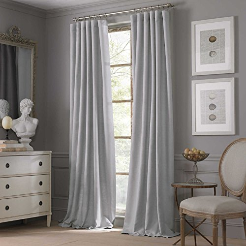 Valeron Estate Cotton Linen 108-Inch Window Curtain Panel in