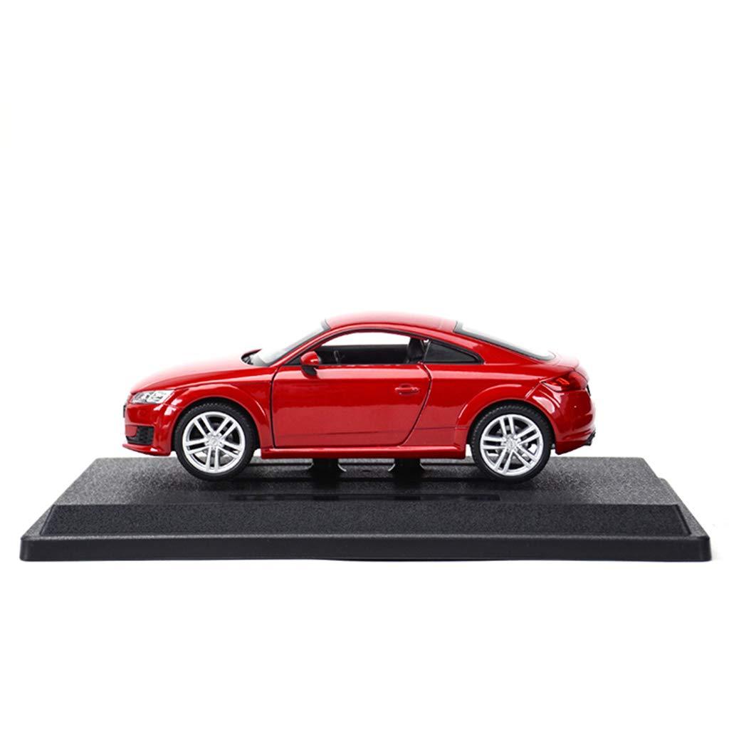 rouge  QRFDIAN Original 1 24 Audi TT R8 V10 A4 Q7 Voiture de Sport Statique modèle de Voiture en Alliage de Simulation (Couleur   Blanc)