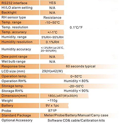 GOWE Hygrometer Alarm Temperature and Humidity Meter