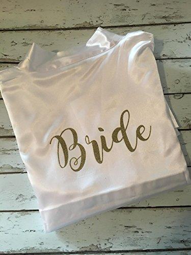 Bridal Robe, Satin Bridesmaid Robes, Bridal satin robe by MoosesCreations
