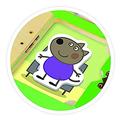 The Canadian Group Peppa Pig Neighborhood Look & Find Wood Puzzle
