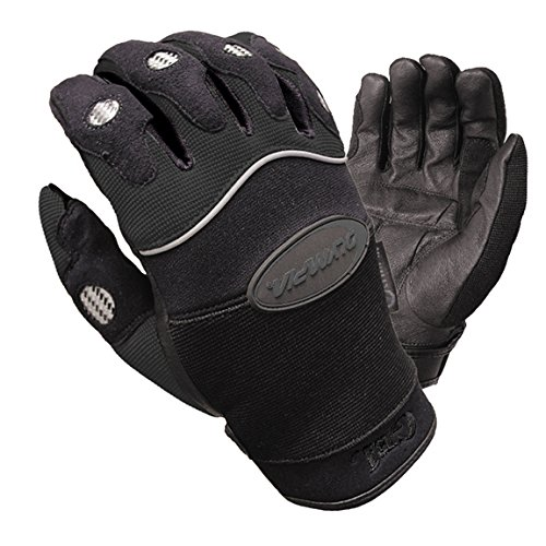 Olympia 711 Gel Reflector Motorcycle Sport Gloves (Black, Small) (Gel Olympia)