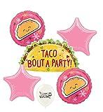 Taco Party Pink Stars Balloon Set Bundle