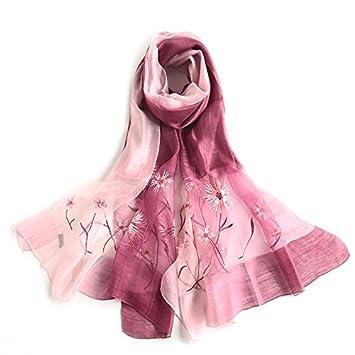 Bestickten Schal im Frühjahr und Herbst Seide Wolle Seidenschal für ...