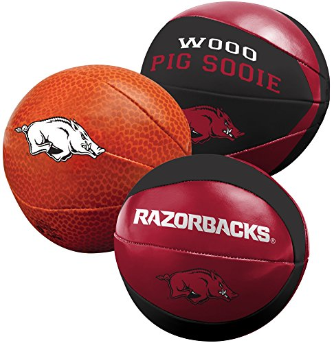 NCAA Arkansas Razorbacks Three Ball Softee Basketball Set, 4