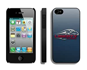 Cool Protective Phone Case Cover for Iphone 4/4s Ncaa Liberty Flames Cheap Designer Cellphone Accessories