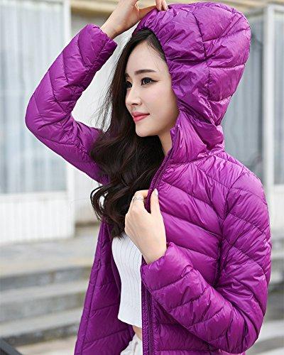 D'hiver Avec Pour Violet Parka Plume Manteau Zhuikun Longue Veste Capuche Femme vnHqYHI8