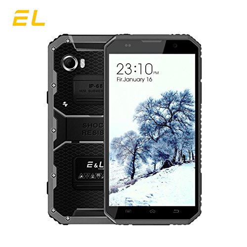 EL W9 4G LTE Rugged Smartphone Unlocked 6.0 inch FHD Screen IP68 Waterproof Dustproof Shockproof 16GB/2GB Android 6.0 Camera 8MP Military Grade GSM Cellphone(GRAY)